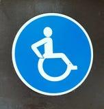 Signe handicapé image stock