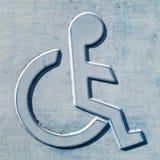 Signe handicapé 81 Photographie stock libre de droits