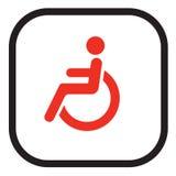 signe handicapé illustration stock