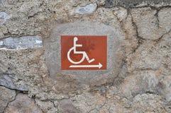 Signe handicapé d'accès photos libres de droits