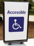 Signe handicapé d'accès photos stock
