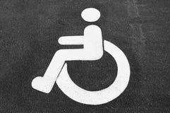 Signe handicapé de stationnement Photo libre de droits