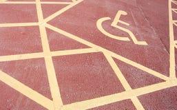 Signe handicapé de stationnement photo stock