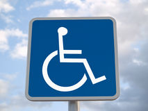 Signe handicapé normal Photographie stock libre de droits
