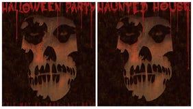 Signe hanté par partie de Chambre de Halloween Photos libres de droits