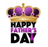 signe heureux de couronne de roi de jour de pères illustration stock