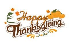 Signe heureux de thanksgiving Photo libre de droits