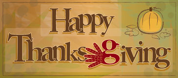 Signe heureux de thanksgiving Images stock