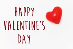 Signe heureux des textes de jour du ` s de valentine concept heureux de valentines H rouge Photos libres de droits