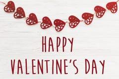 Signe heureux des textes de jour du ` s de valentine concept heureux de valentines H rouge Photo libre de droits