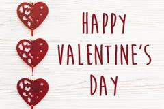 Signe heureux des textes de jour du ` s de valentine concept heureux de valentines H rouge Image libre de droits