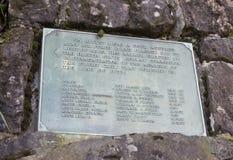 Signe historique de marqueur pour la côte de l'Orégon de l'accident B-17 Images libres de droits