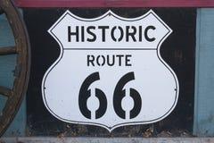 Signe historique de Route 66 image libre de droits