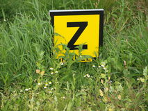 Signe hollandais Z de câble Photographie stock