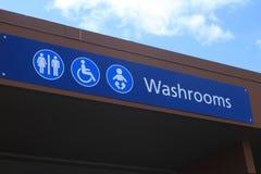 Signe horizontal de salle de toilette photos libres de droits