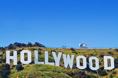Signe iconique de Hollywood de Los Angeles, la Californie Photos libres de droits