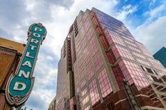 Signe iconique de Portland Photos stock