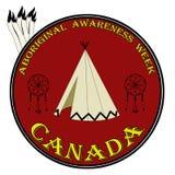 Signe indigène de semaine d'awarness, illustration de vecteur de labbel Image stock