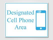 Signe indiqué de secteur de téléphone portable Image stock