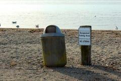 Signe indiqué de zone de pêche Photographie stock