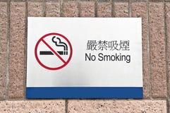 Signe indiqué de zone non-fumeurs Images stock