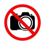 Signe interdisant le tir de photographie et de vidéo Images libres de droits