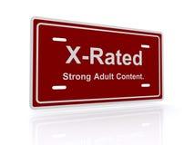 Signe interdit aux moins de 18 ans adulte Image stock