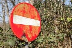 Signe interdit d'accès photographie stock libre de droits