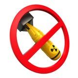 Signe interdit nucléaire Image libre de droits
