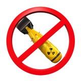 Signe interdit nucléaire Images libres de droits