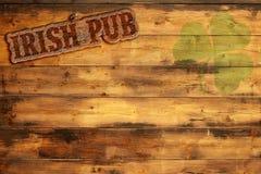 Signe irlandais de bar Images libres de droits