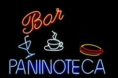 Signe italien de bar Photographie stock libre de droits