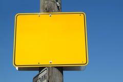 Signe jaune Images libres de droits