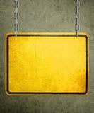 Signe jaune Photographie stock libre de droits