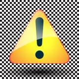Signe jaune d'exclamation triangulaire Photo libre de droits