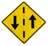 Signe jaune de flèche Image libre de droits