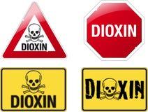 Signe la dioxine Images libres de droits