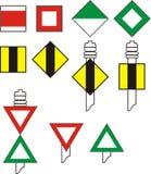 Signe la navigation de fleuve Illustration Stock