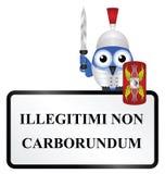 Signe latin illustration de vecteur