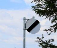 Signe les Anglais de De-restriction de vitesse Photos libres de droits