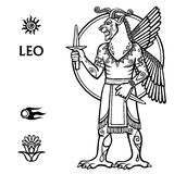 Signe Lion de zodiaque Photographie stock