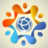 Signe Logo Poster du monde Photographie stock libre de droits