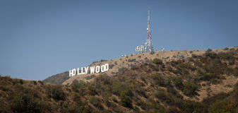 Signe Los Angeles la Californie de Hollywood Photos libres de droits