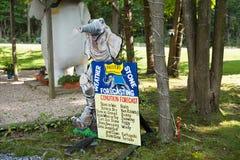 Signe lunatique de Monsieur Eds Elephant Museum Images stock