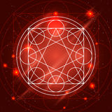 Signe magique de la géométrie de vecteur Image libre de droits