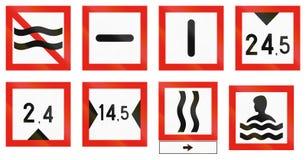 Signe maritime de fairway de la Finlande - évitez le lavage des vagues illustration de vecteur