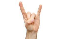 Signe masculin de métaux lourds de bras de balancier d'isolement Photo libre de droits