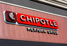 Signe mexicain de gril de Chipolte Photo libre de droits