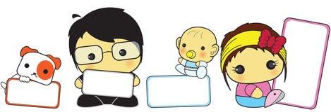 Signe mignon de famille illustration libre de droits