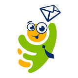 Signe mobile d'homme de message Illustration Libre de Droits